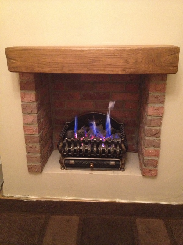 Creating a fire place using brick slips thin brick - How to make a brick fireplace look modern ...